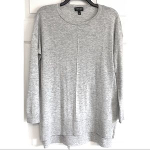 Topshop Gray Tunic Sweater Pullover UK 6 US 2
